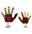 Hand Turkey Bird vector image