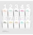 Infographics number options template vector image
