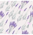Lavender bouquets seamless vector image