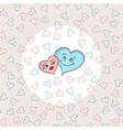 love hearts on seamless pattern vector image