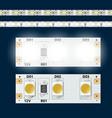 realistic 12v led light strip vector image