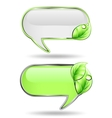 Two banner with green leaf vector image
