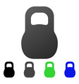 weight flat gradient icon vector image