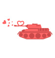 Pink tank of love Shot heart Peace military vector image
