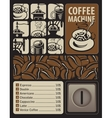 coffee machines for hot drinks vector image vector image