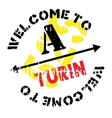 Turin stamp rubber grunge vector image