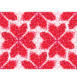Flower seamless love pattern of geometric heart vector image