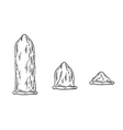 condoms sketch vector image