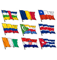 set of national flags vector image vector image