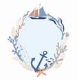 Sea voyage frame design vector image