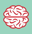 brain simple2 resize vector image vector image