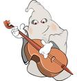 ghost-musician cartoon vector image