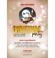 Christmas party poster design Greeting messages vector image