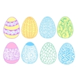 Easter eggs set - vector image
