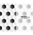 Geometric football hexagonal tiles background with vector image