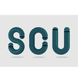 Logo of abstract letter s letter C and U3D Letters vector image
