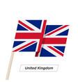 united kingdom ribbon waving flag isolated on vector image