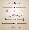 vintage borders frames dividers heart floral card vector image