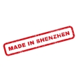 Made In Shenzhen Rubber Stamp vector image