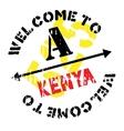 Kenya stamp rubber grunge vector image