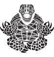 turtle in the Lotus position vector image vector image