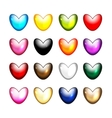 Set of heart shape icons for your design vector image