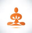 yoga meditation symbol vector image vector image