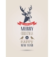 Christmas vintage card retro air mail concept with vector image vector image