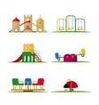 Kids playground elements vector image