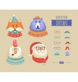Christmas hipster animals vector image