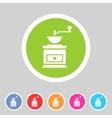 Coffee grinder mill icon flat web sign symbol logo vector image