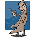 detective or gangster cartoon vector image