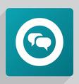 flat Conversation icon vector image