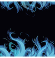frame made from blue flame vector image