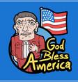god bless america vector image