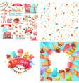 ice cream elements vector image