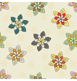 seamless background of ethnic flower vector image