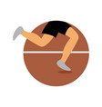 triathlon run athletic emblem sport graphic vector image