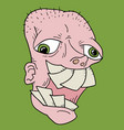ugly face vector image