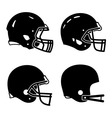 Football helmet sport icon symbols vector image