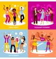 Disco Party Concept Icons Set vector image