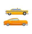 Taxi yellow car retro style vector image