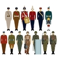 Uniforms of the British Army vector image vector image