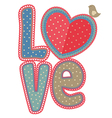 vintage word love with bird vector image