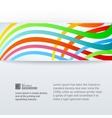 Abstract horizontal band vector image vector image