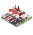 isometric oil refinery vector image