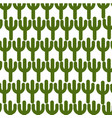 cactus plant pattern background vector image