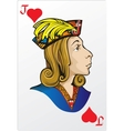 Jack of heart Deck romantic graphics cards vector image