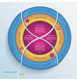 Abstract design circle infographic with four segme vector image vector image
