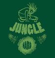 Ragga jungle t-shirt music vector image